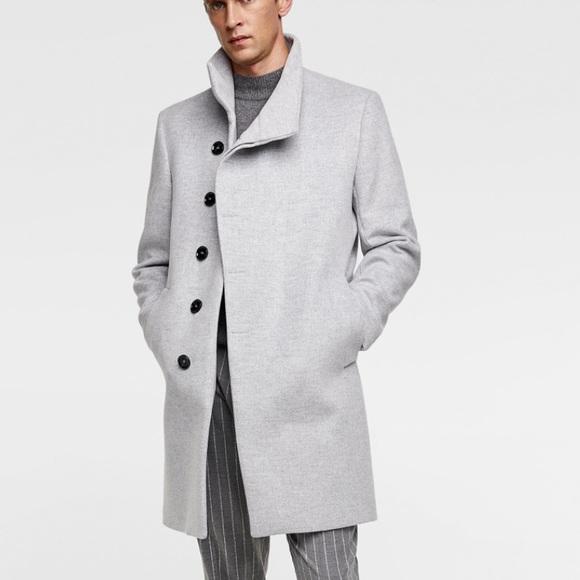 a784a1d6 Zara Jackets & Coats | Asymmetrical Collar Coat | Poshmark